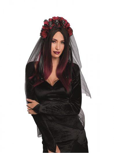 Women's Gothic Flower and Skull Costume Headpiece