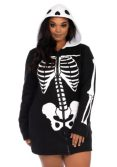 Women's Plus Size Cozy Skeleton Costume