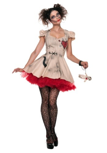 Women's Plus Size Voodoo Doll Costume