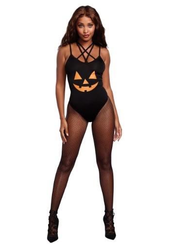 Women's Pumpkin Bodysuit Costume