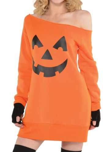Women's Pumpkin Off the Shoulder Tunic