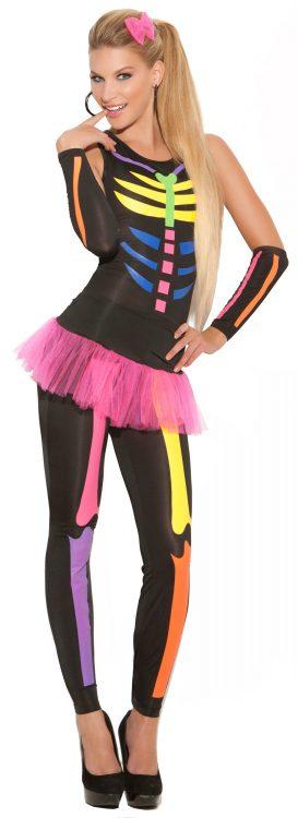 Womens Scary Bones Halloween Costume