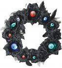 Wreath 15In Lu Eyeball Black