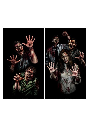 Zombie Asylum Window Cling