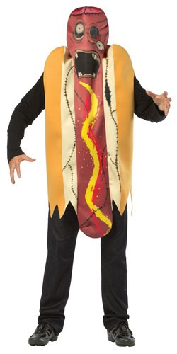 Zombie Hot Dog Teen Costume